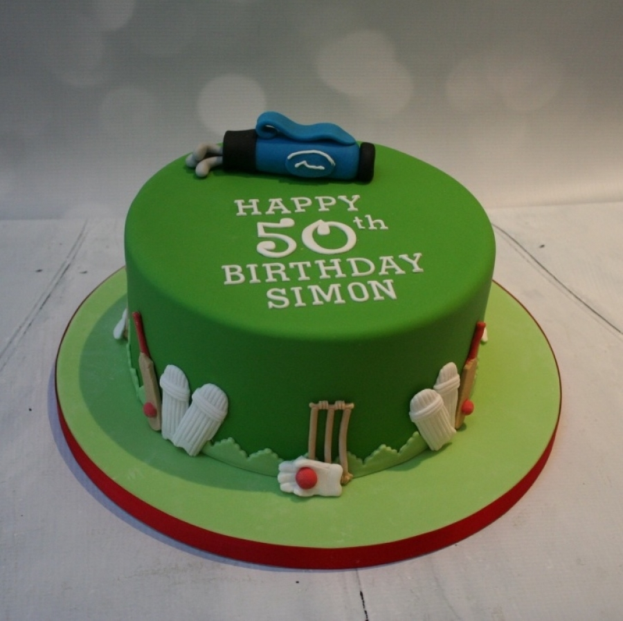 Golf cricket themed cake
