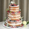 Naked wedding cake - roses