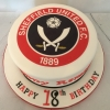 Large SUFC badge cake