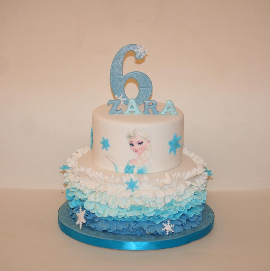 Elsa Cake Making