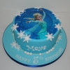 Elsa theme birthday cake