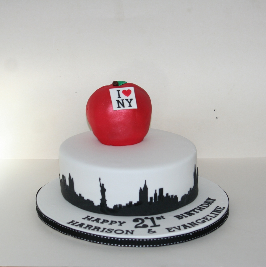 Cake Pictures New : New York theme cake