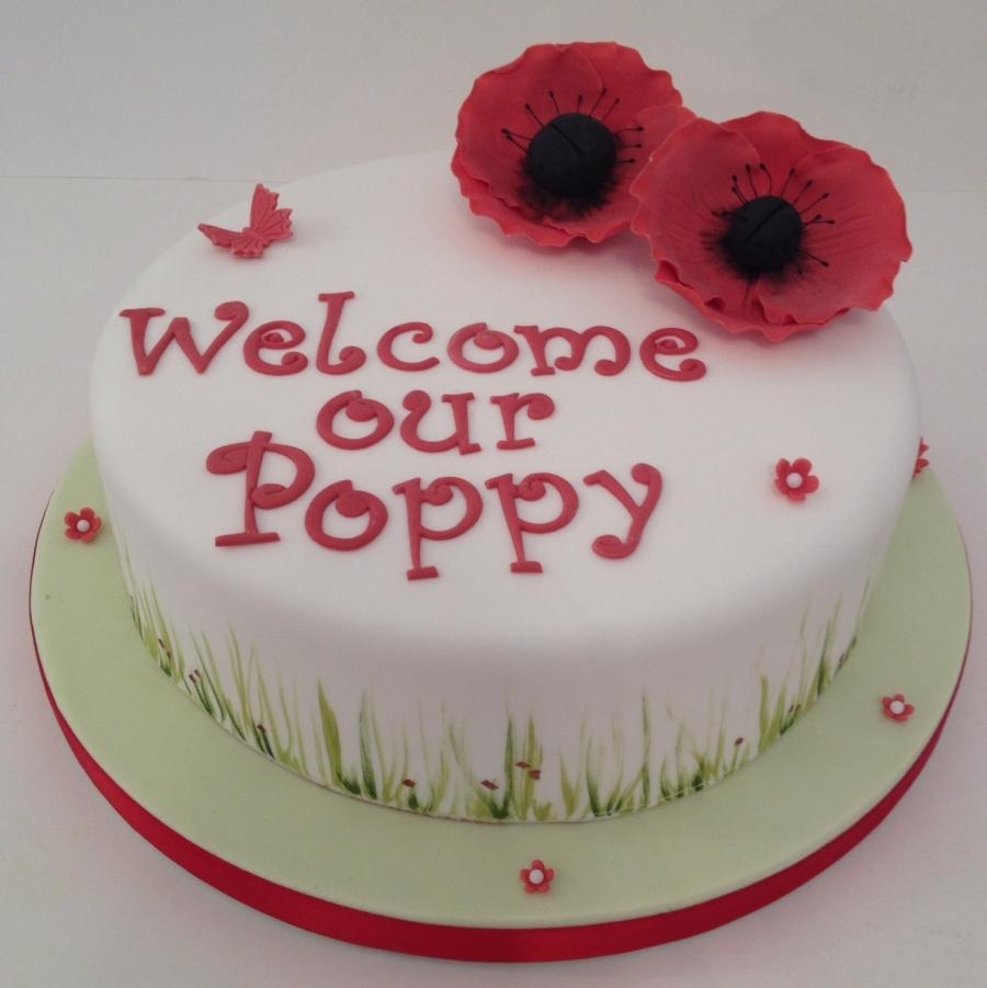 Poppy Babyshower Cake