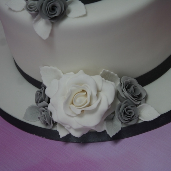 Silver and grey wedding flower close up 1