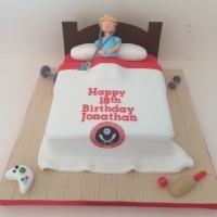 Teenage bed cake - SUFC