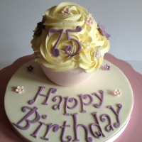 75th birthday baby giant cupcake