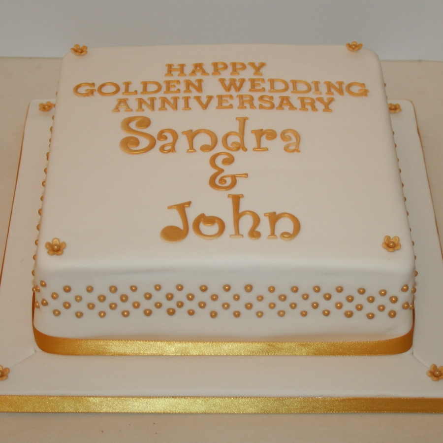 Novelty Golden Wedding Cakes