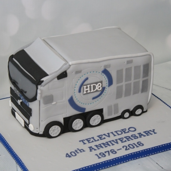 Televideo corporate anniversary cake