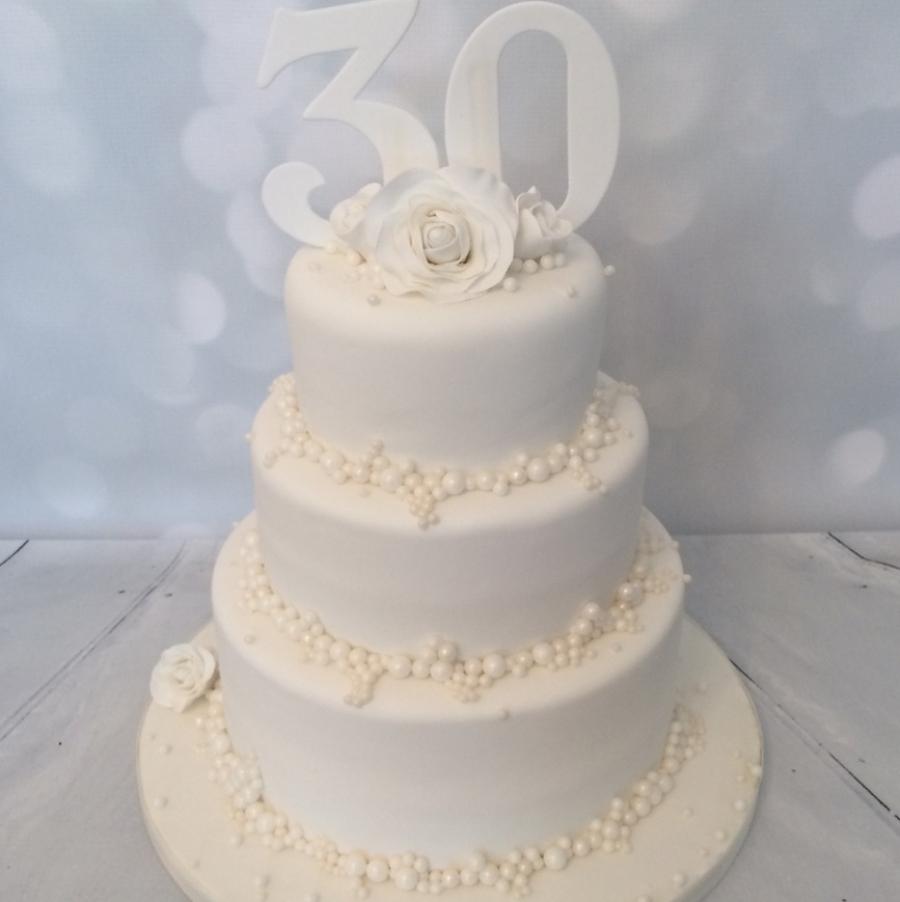 30th anniversary cakes ideas
