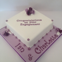 Engagement cake - purple/white