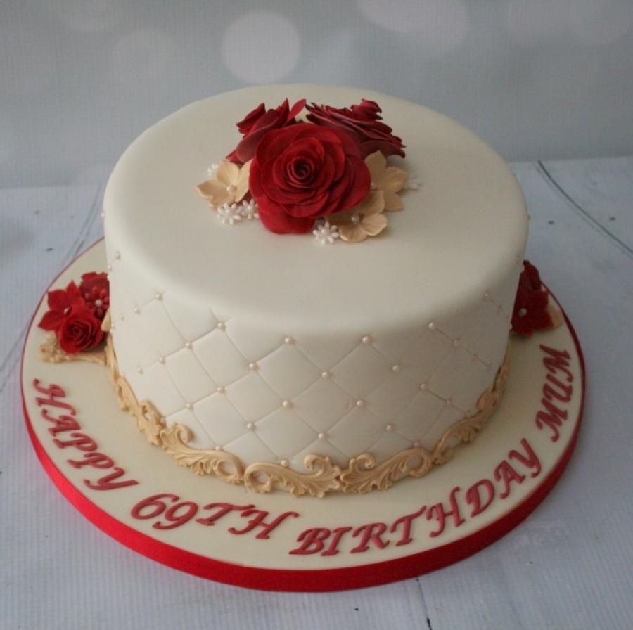 Rose Amp Pearl Birthday Cake