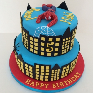 2-tier Spiderman cake