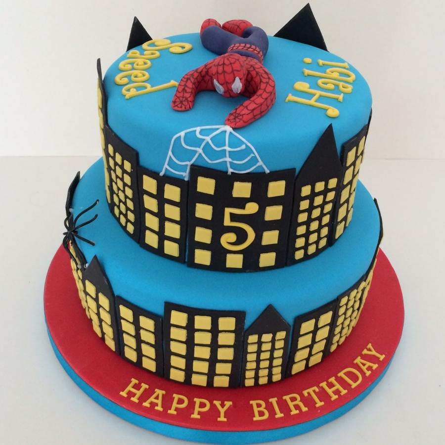 Making A Spiderman Cake