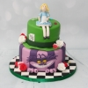 Alice in Wonderland themed cake - 2 tier
