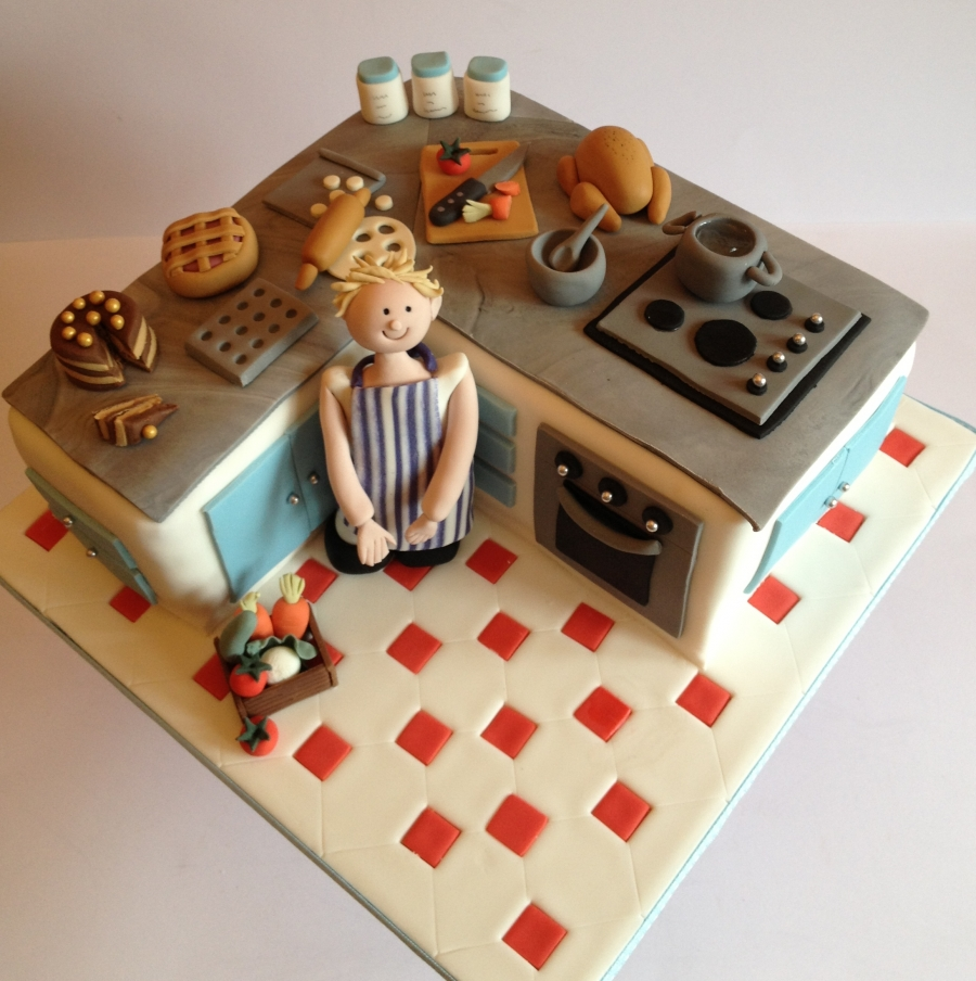 Kitchen cake for Chef themed kitchen ideas