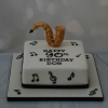 Square music themed cake - Saxophone
