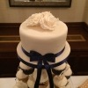 Ivory / navy cake for cupcake tower