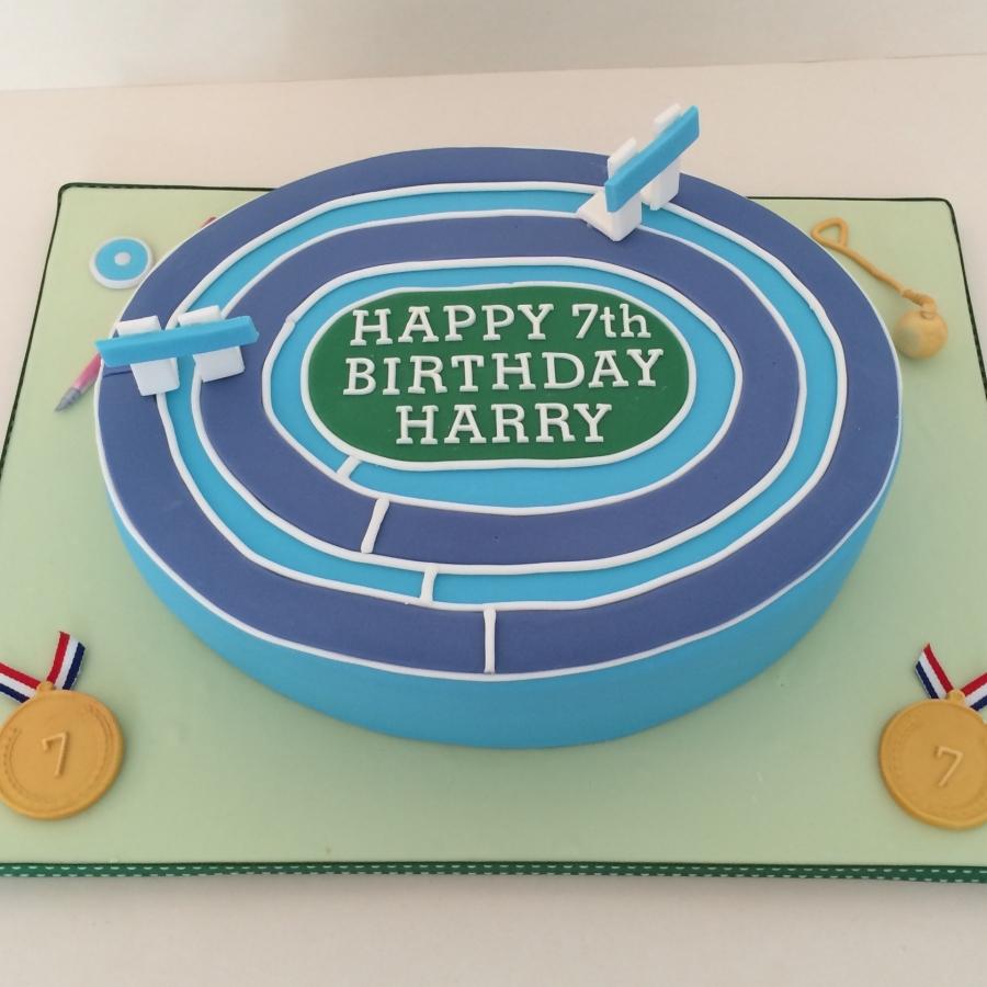 Athletics Track Cake