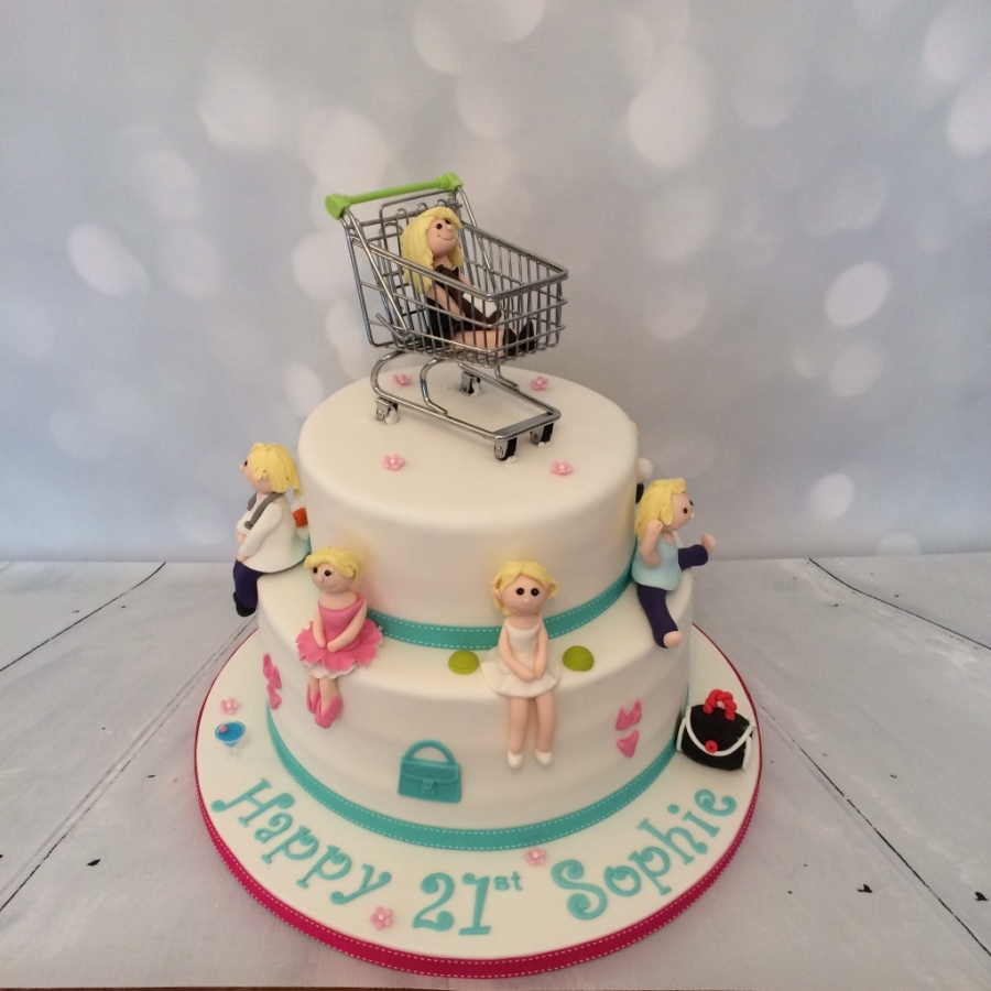 Shopping Trolley 21st Cake