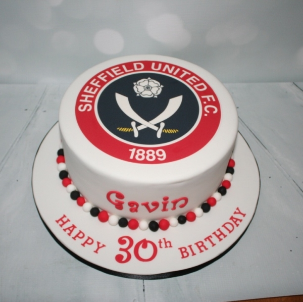 Sheffield United badge cake - 30th birthday