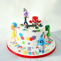 Inside Out themed cake