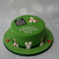 80th birthday - cricket theme