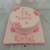 Pink buttons and flowers cake