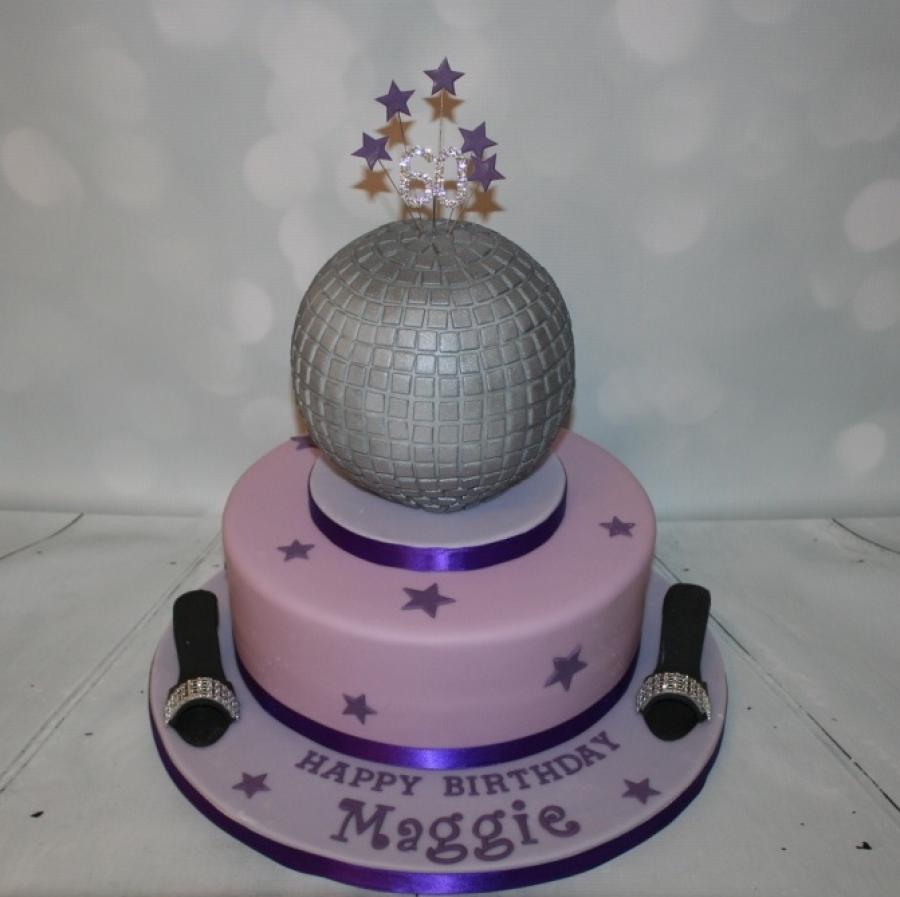 Glitterball Cake