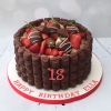 Chocolate & strawberries cake