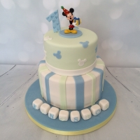 2 tier Mickey Mouse - blue/green