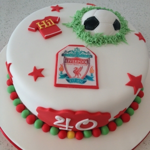 Liverpool FC themed football cake