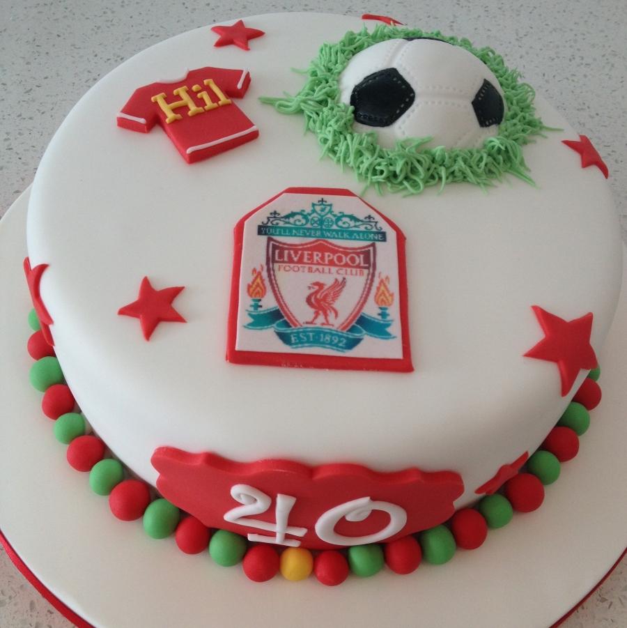 Liverpool Fc Themed Football Cake