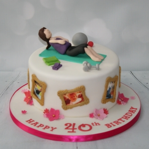 Pilates themed cake