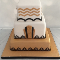 Great Gatsby theme cake - 3 tiers