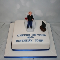 Armchair 80th birthday cake