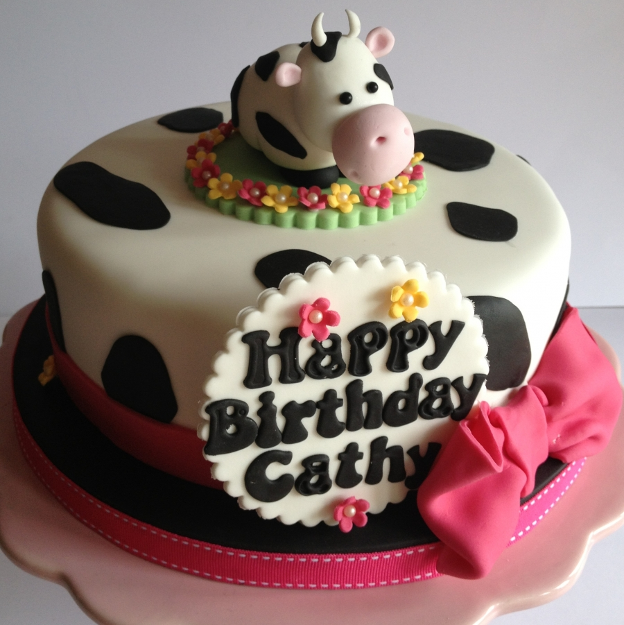Remarkable Cow Theme Cake Funny Birthday Cards Online Overcheapnameinfo