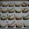 Baby shower cupcakes - pink/green/lemon