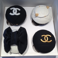 Chanel birthday cupcakes