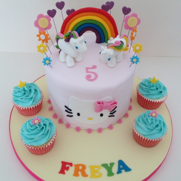 Unicorn & Hello Kitty cake
