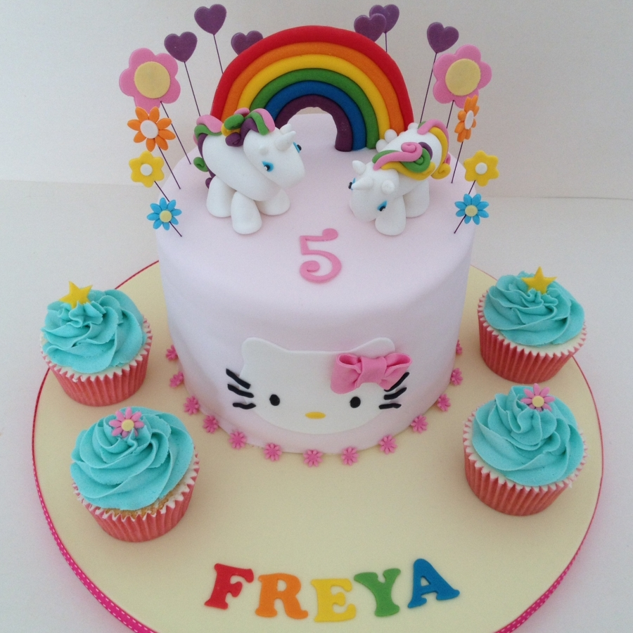 Unicorn Hello Kitty Cake