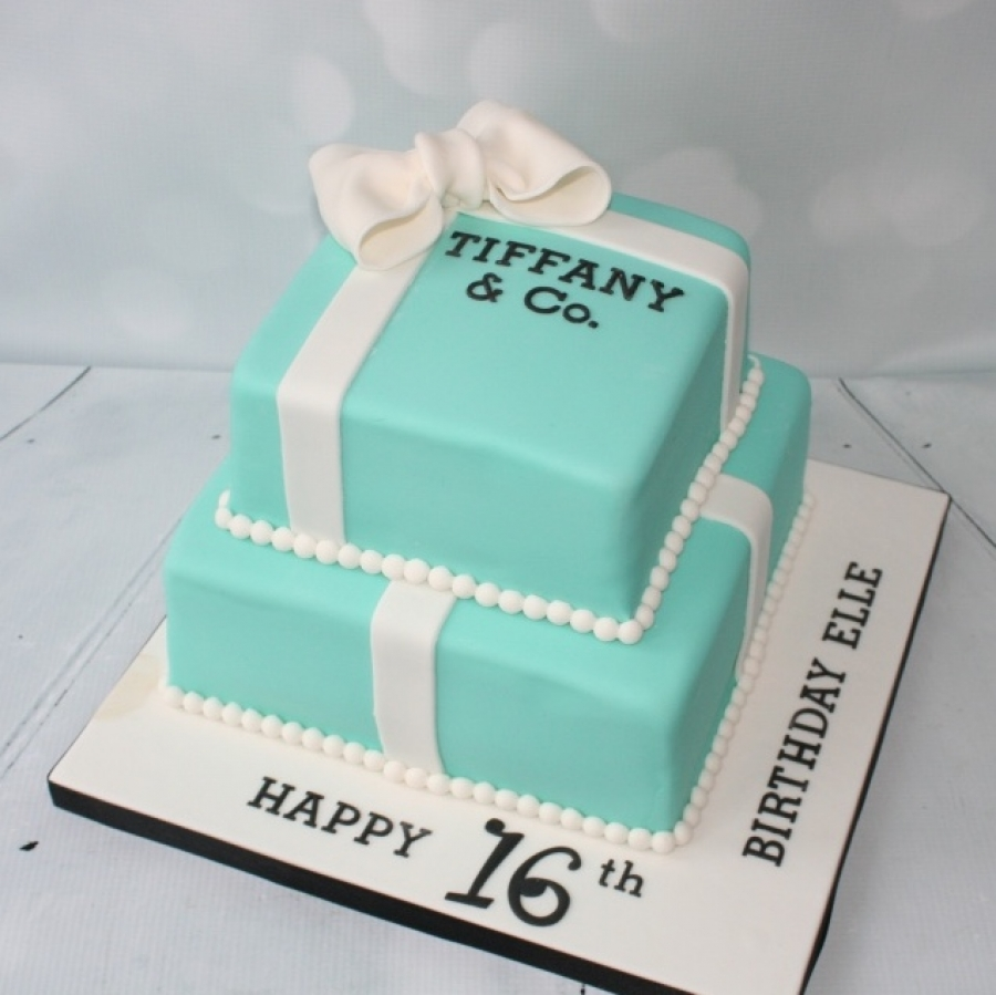 16th Birthday 2 Tier Tiffany Box Cake