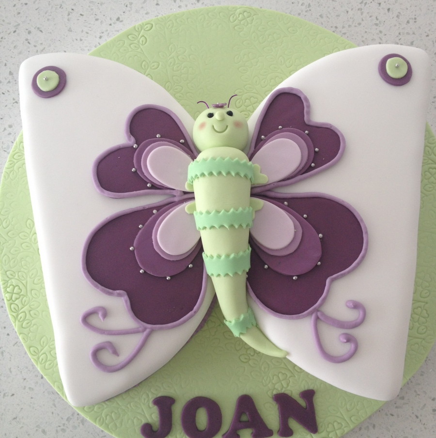 Phenomenal Butterfly Birthday Cake Funny Birthday Cards Online Overcheapnameinfo