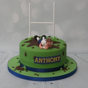 Rugby themed cake