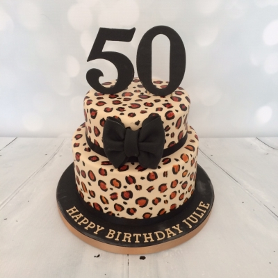 2 Tier Leopard Print