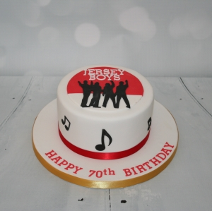 Jersey Boys themed cake