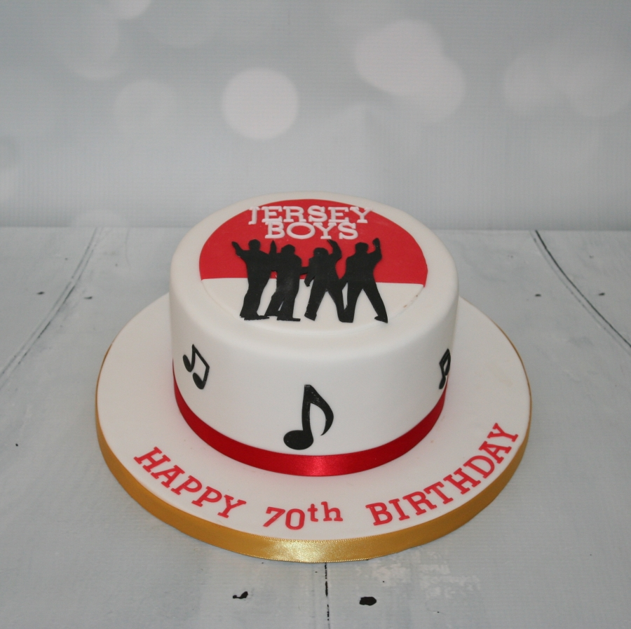 Jersey Boys Themed Cake