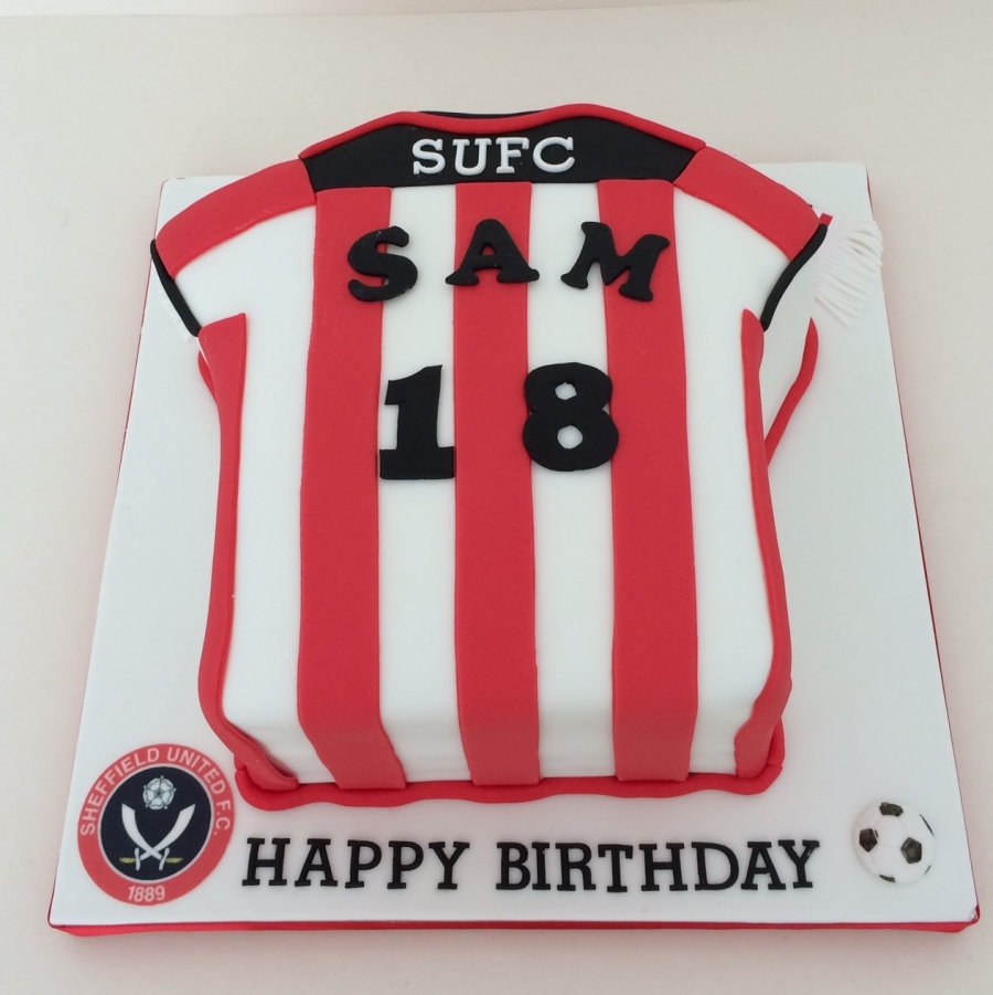 Sheffield United Shirt Cake 2