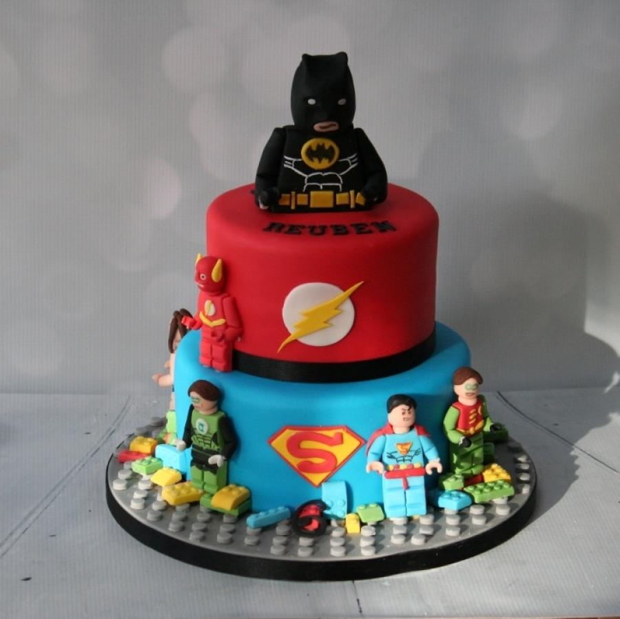 Lego Superhero 2 Tier Cake