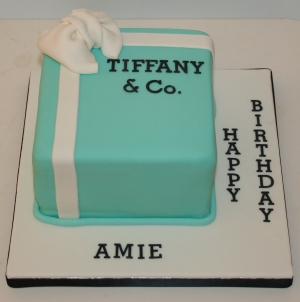 Small Tiffany box cake