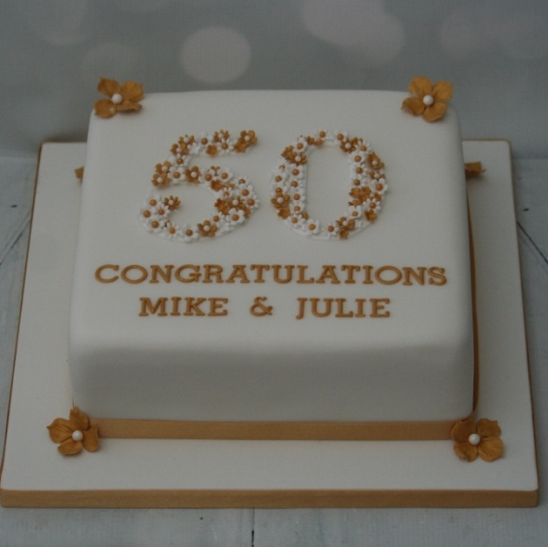 Square 50th wedding anniversary